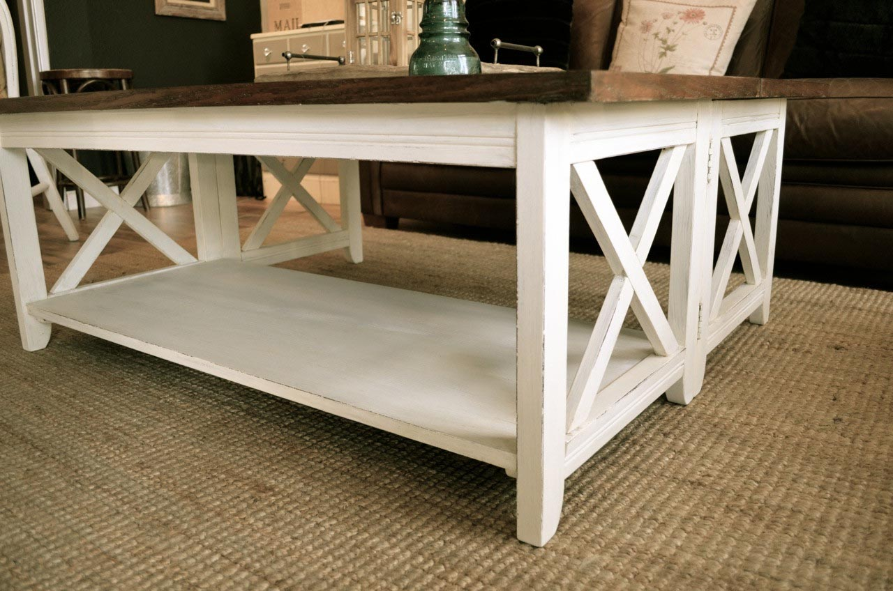 White Distressed Coffee Table Coffee Table Design Ideas