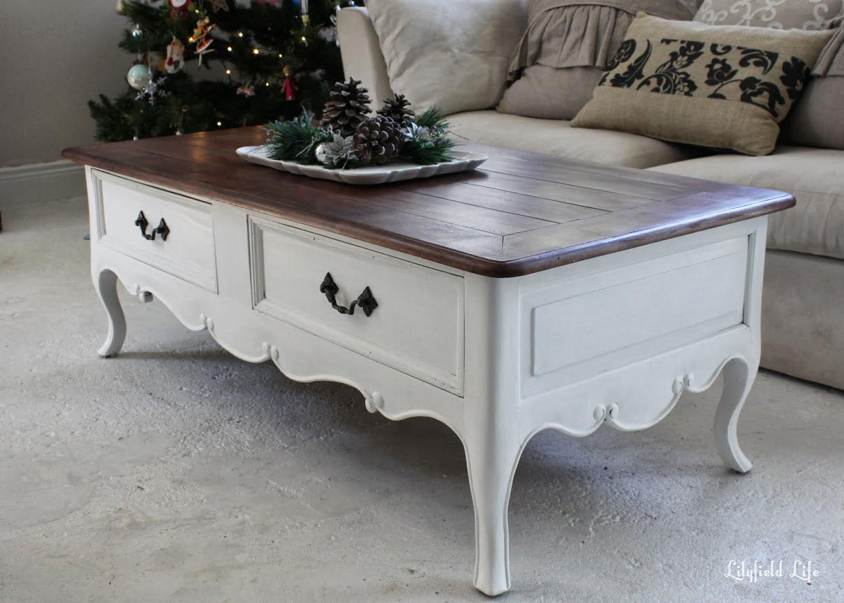 White painted coffee table coffee table design ideas Painted coffee table