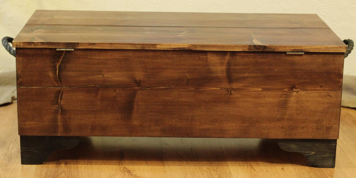 Wood Chest Coffee Table