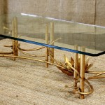Bamboo and Glass Coffee Table