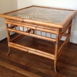 Bamboo Glass Coffee Table