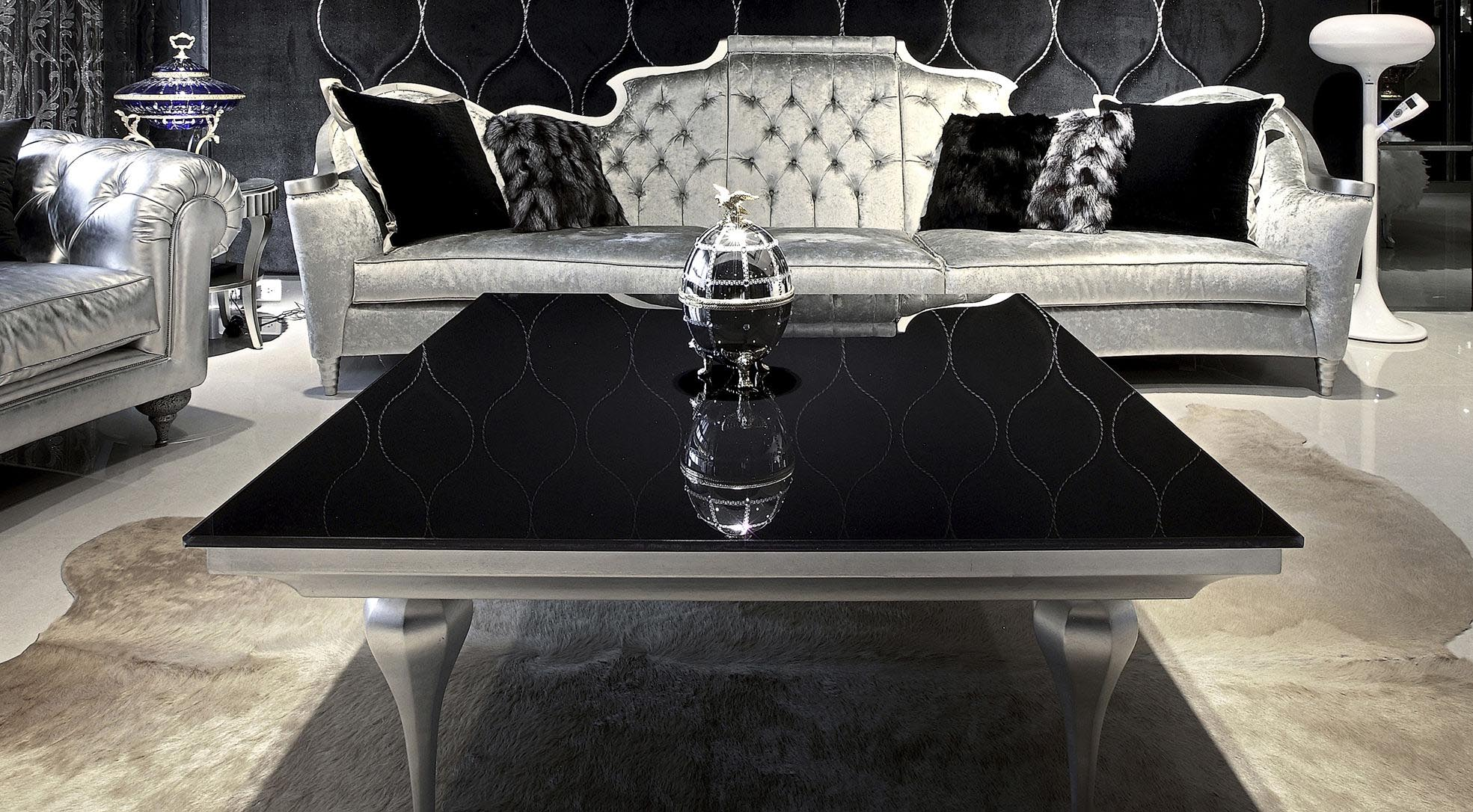 Black and Silver Coffee Table