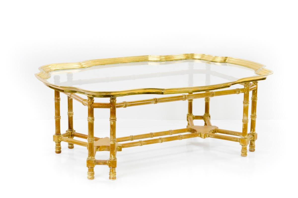 Brass Bamboo Coffee Table