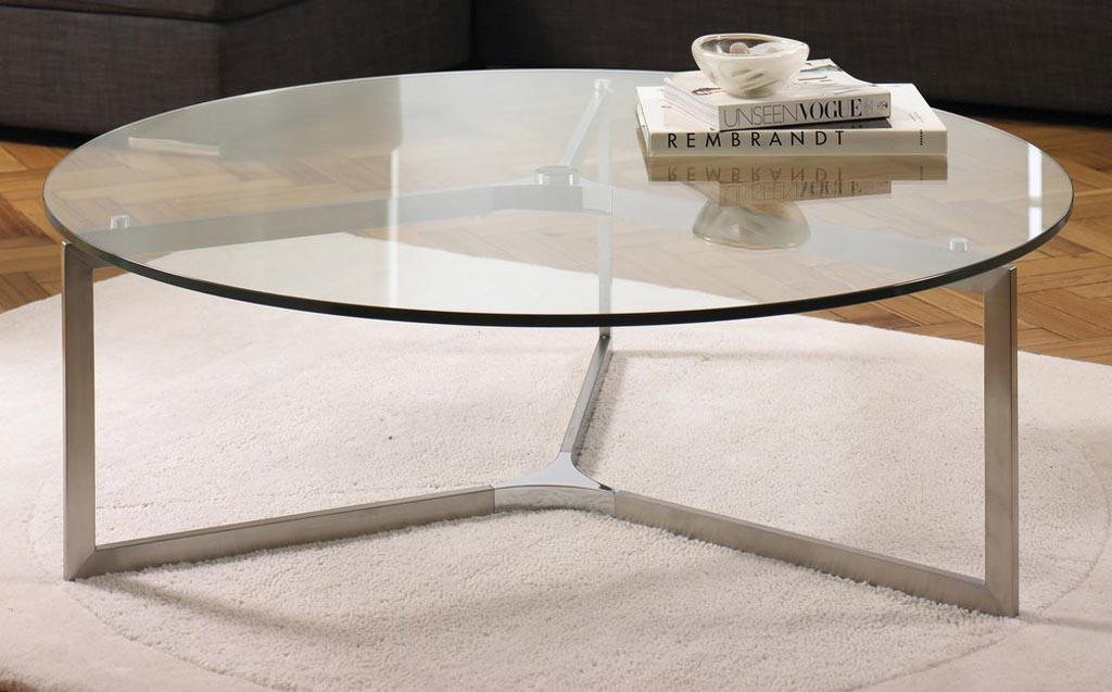 Circular Coffee Table Glass Top