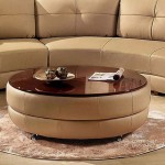 Circular Coffee Table Ottoman