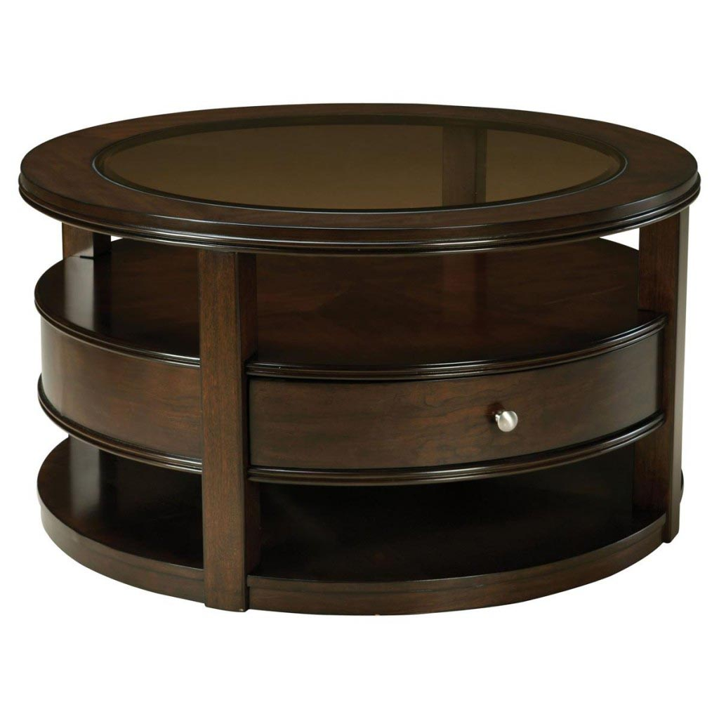 Circular Coffee Table with Storage