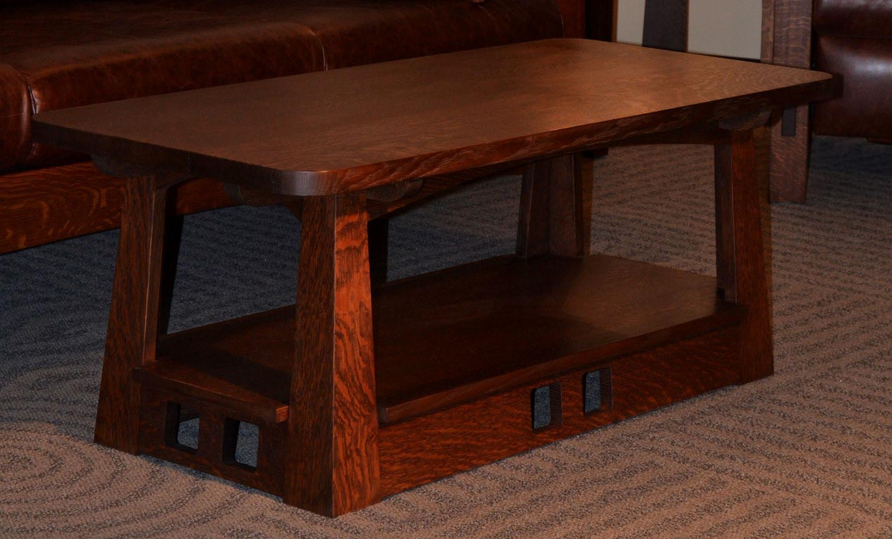 ... Comfort with a Mission Style Coffee Table | Coffee Table Design Ideas