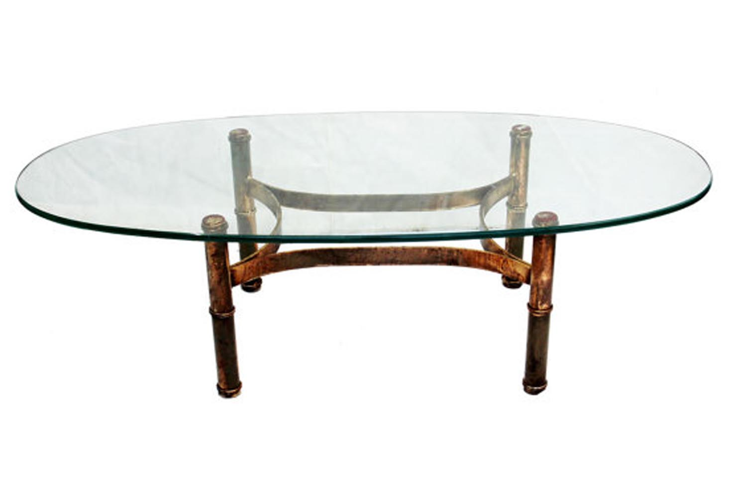Gold bamboo glass coffee table coffee table design ideas Coffee tables glass