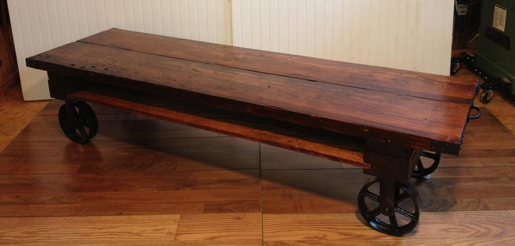 Coffee Table With Wheels Diy