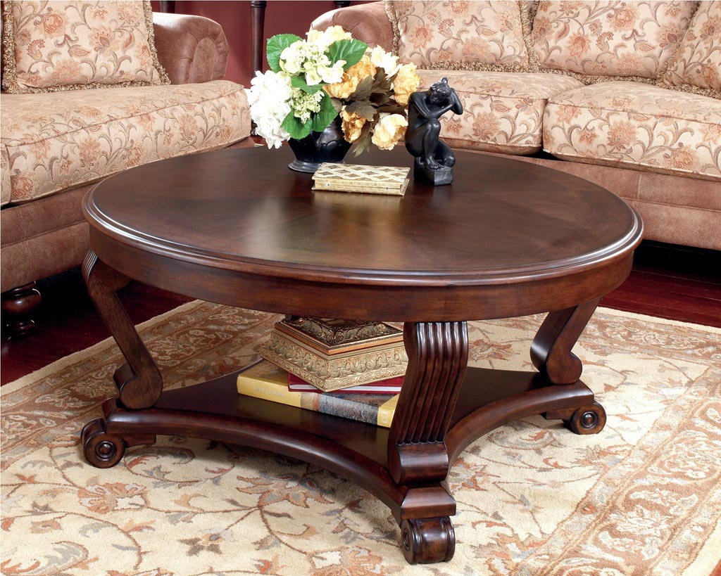 Large Round Coffee Table Design Ideas