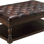 Leather Upholstered Coffee Table