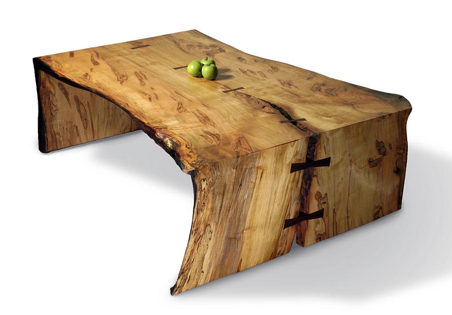 Maple slab coffee table coffee table design ideas for Oak slab coffee table