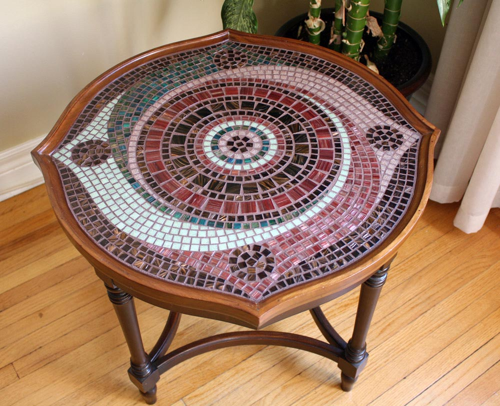 diy mosaic tile table top. how to make a mosaic tile table design