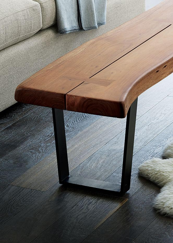 Narrow Coffee Table Bench
