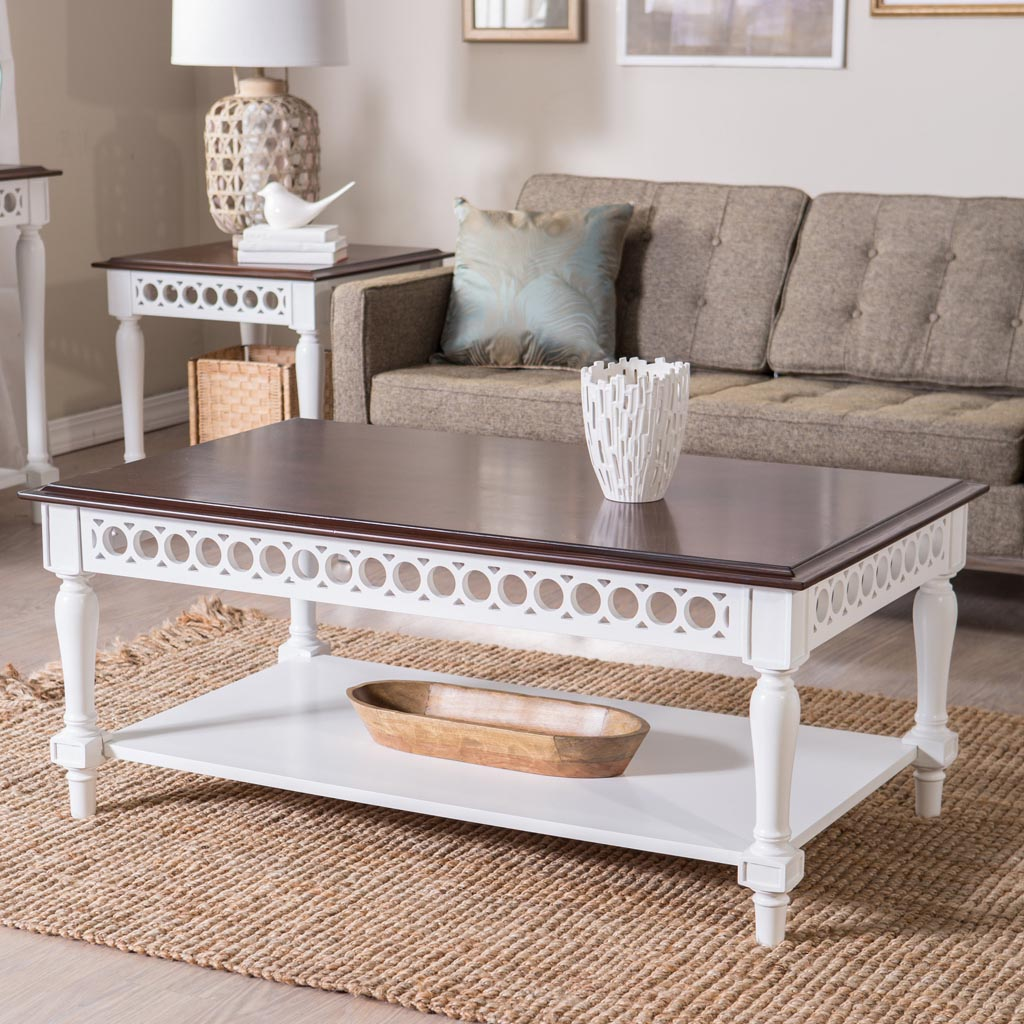 Narrow White Coffee Table