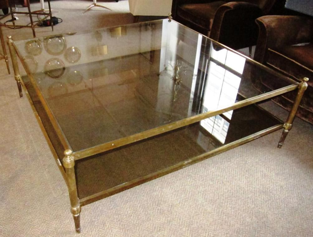 Oversized Glass Coffee Table
