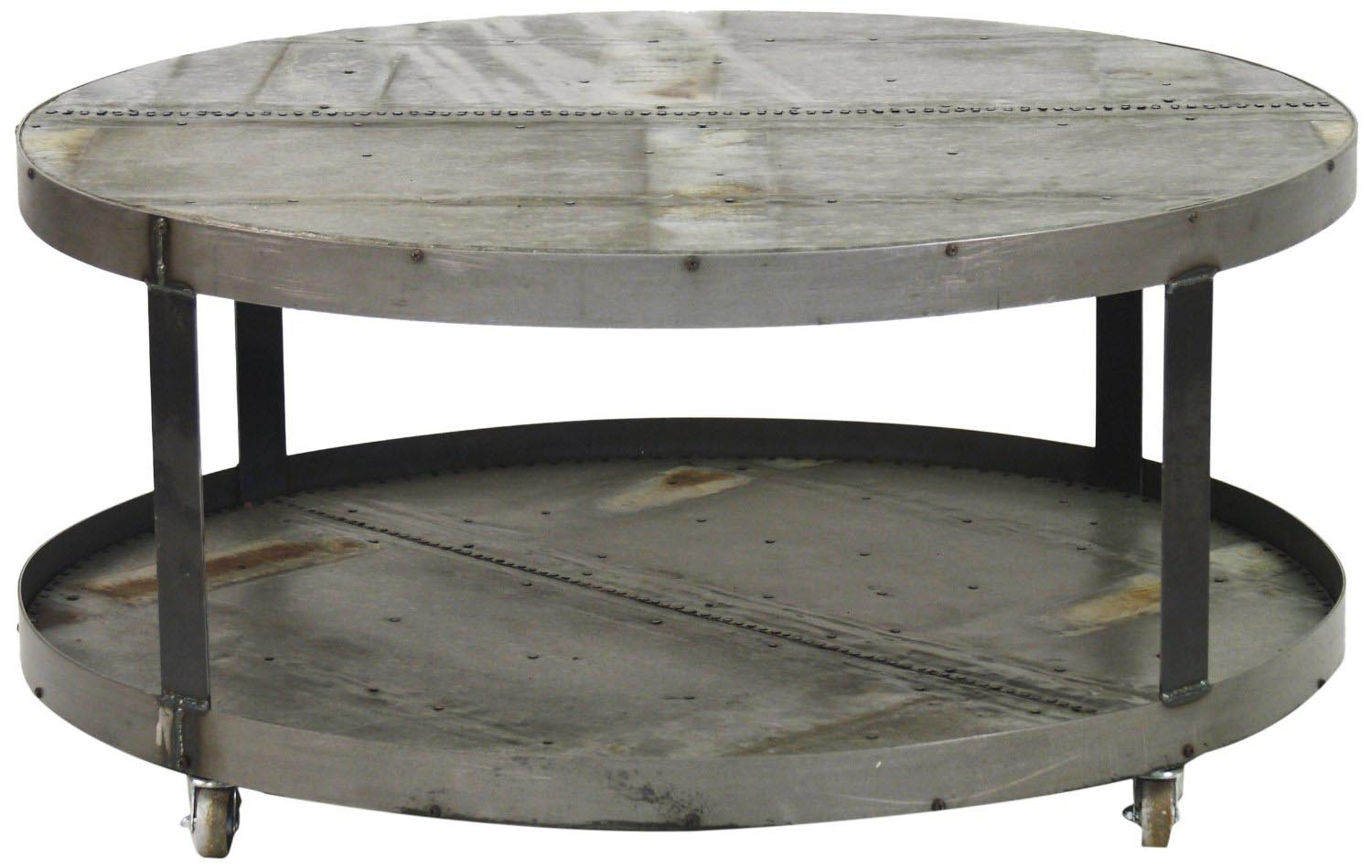 Charming Oversized Round Coffee Table