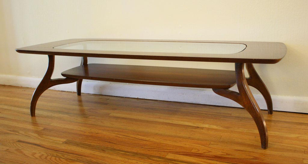 Retro Glass Top Coffee Table