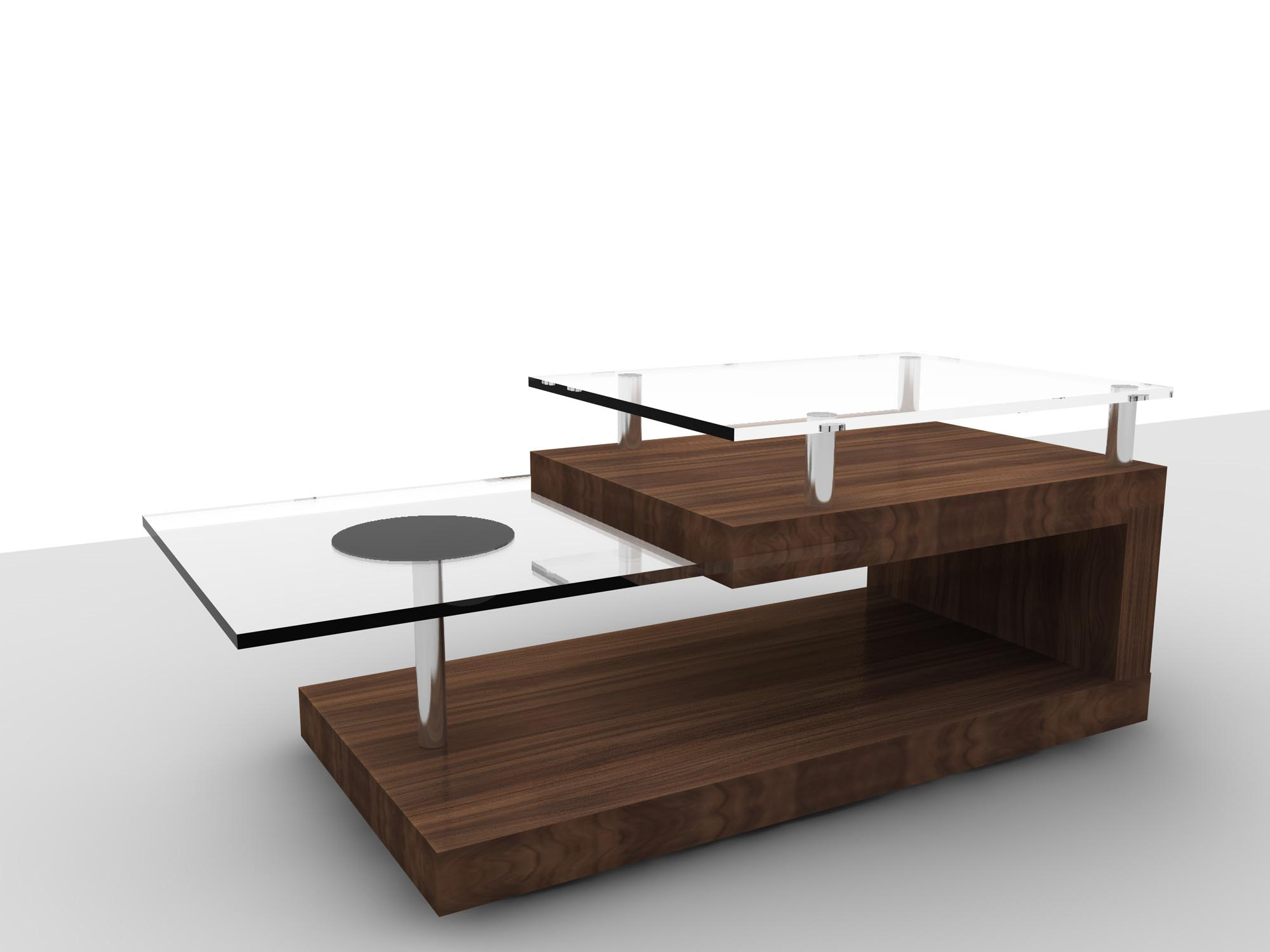 Retro modern coffee table coffee table design ideas Espresso coffee table
