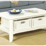 Retro White Coffee Table