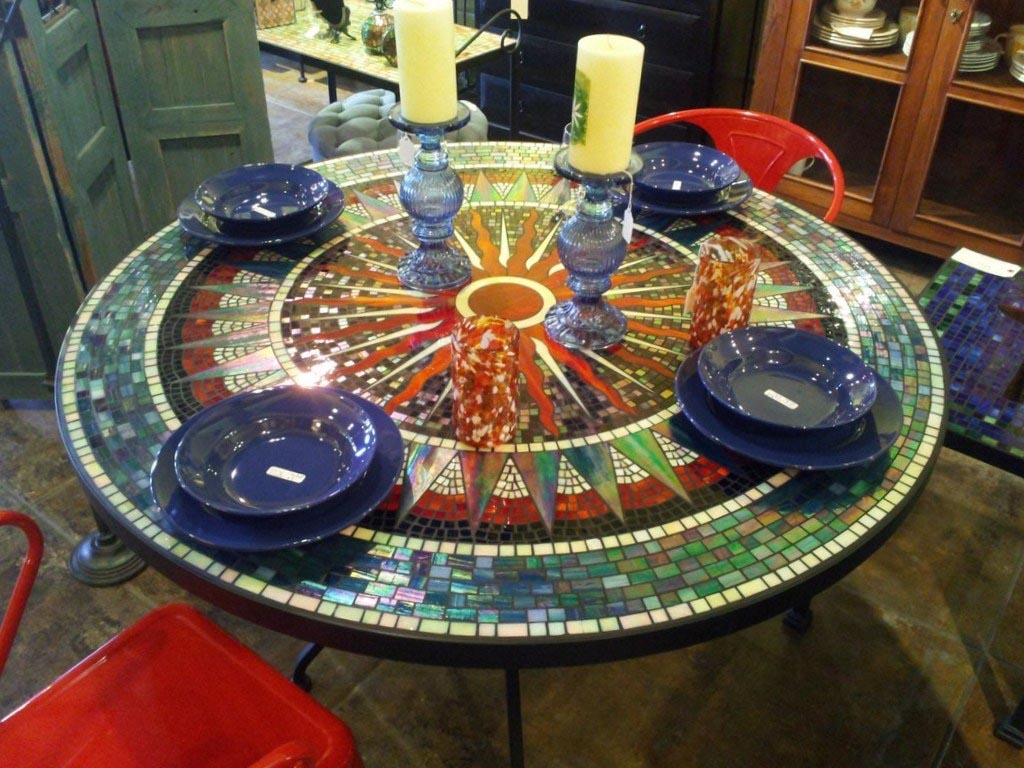 Round Mosaic Coffee Table Design Ideas