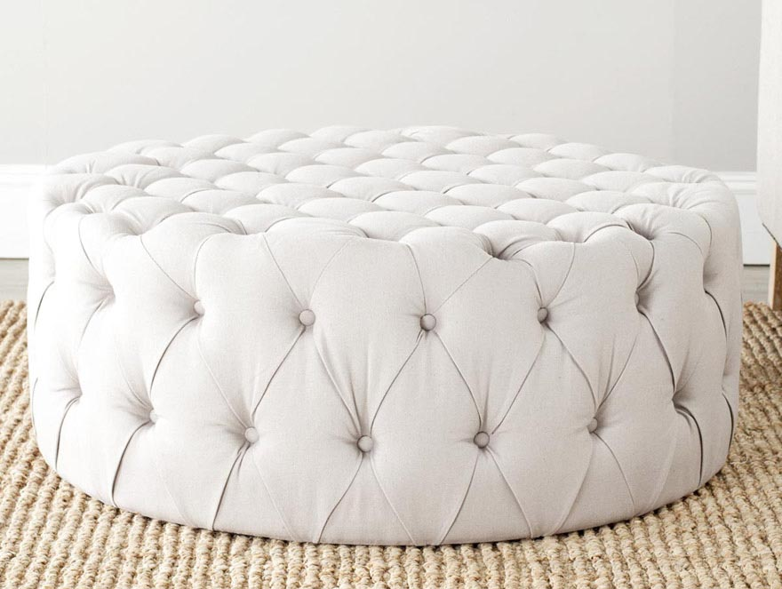 Round Ottoman Coffee Table Upholstered Coffee Table Design Ideas