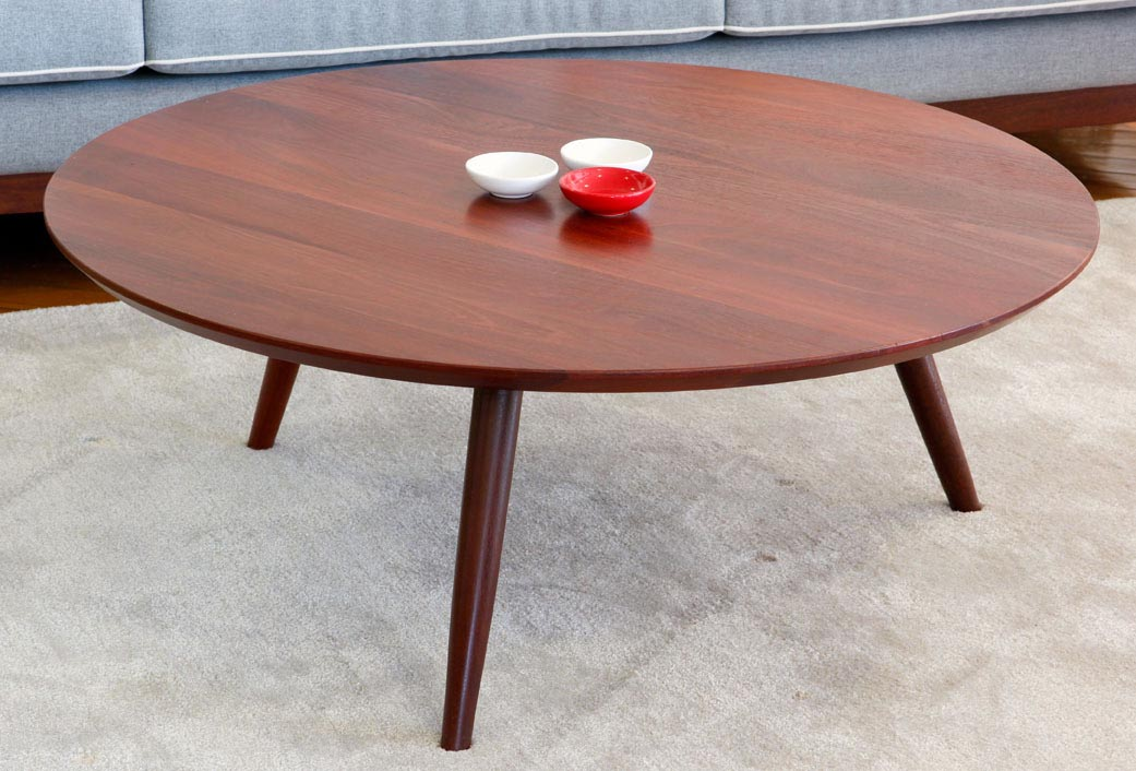Round retro coffee table coffee table design ideas Legs for a coffee table