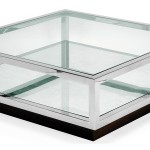 Silver and Glass Coffee Table