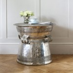 Silver Drum Coffee Table