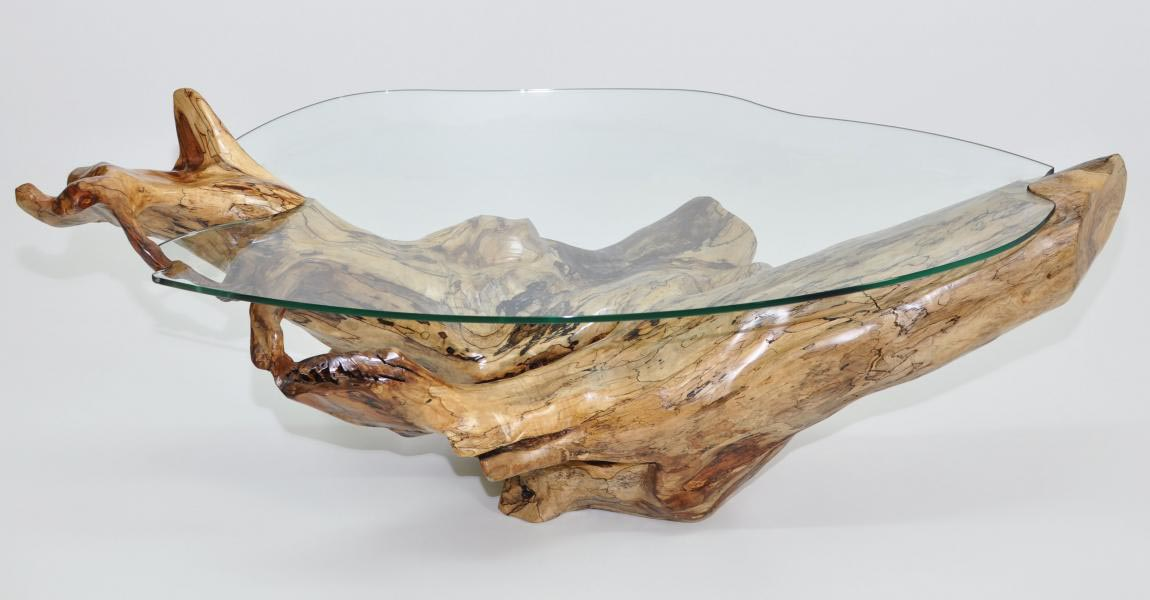 Silver Tree Trunk Coffee Table