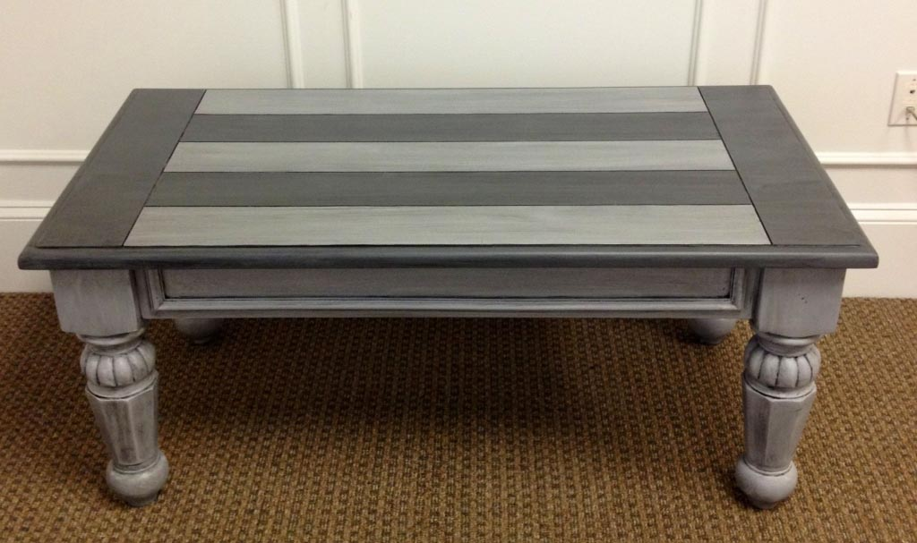 Silver Wood Coffee Table
