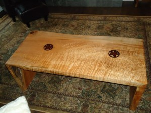 Tiger Maple Coffee Table