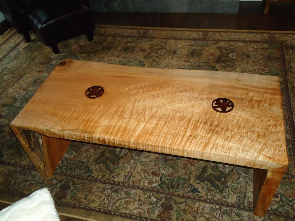 Spalted Maple And Steel Coffee Table Maple Coffee Tables Sal Kensington Place Collection From