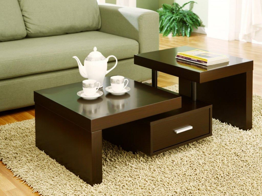Unique coffee table is victory over the boring interior for Table designs for living room