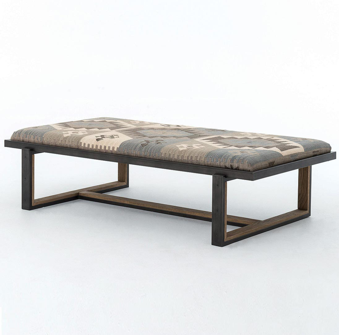 Upholstered Coffee Table Bench