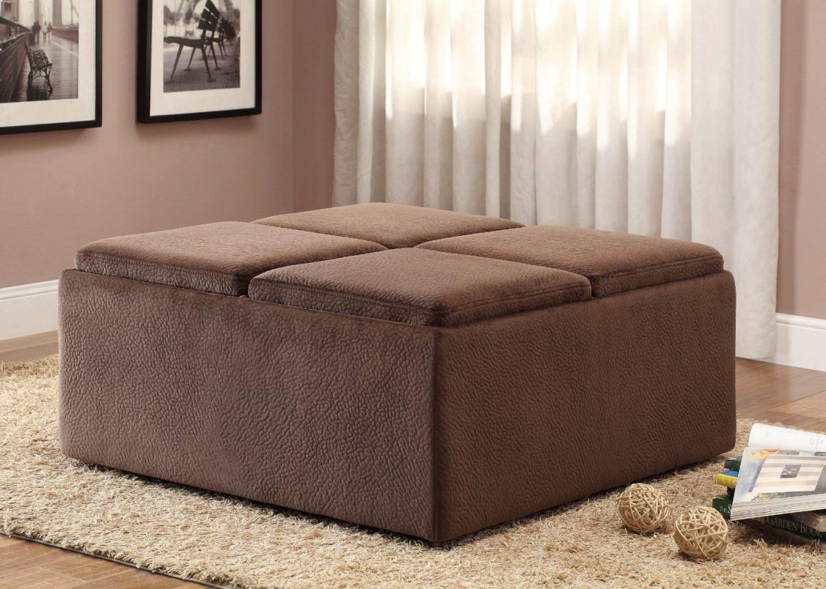 Upholstered Coffee Table Ottoman Coffee Table Design Ideas