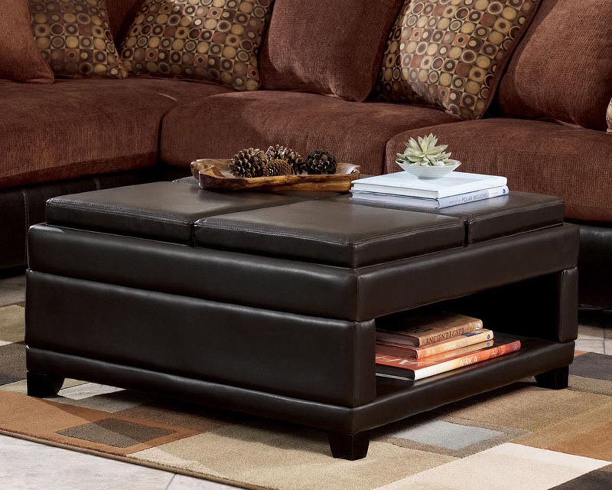 upholstered coffee table with storage | coffee table design ideas