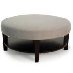 Upholstered Round Coffee Table
