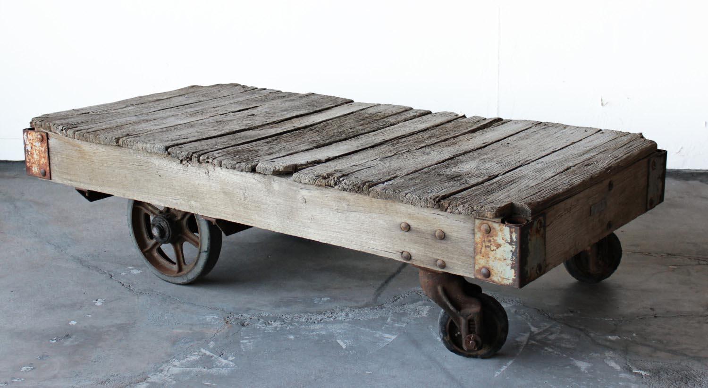 Vintage Cart Coffee Table