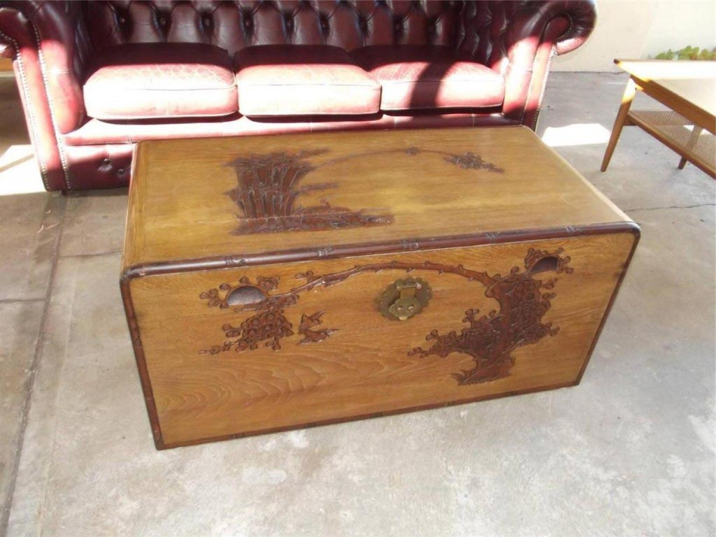 Vintage chest coffee table coffee table design ideas for Vintage coffee table