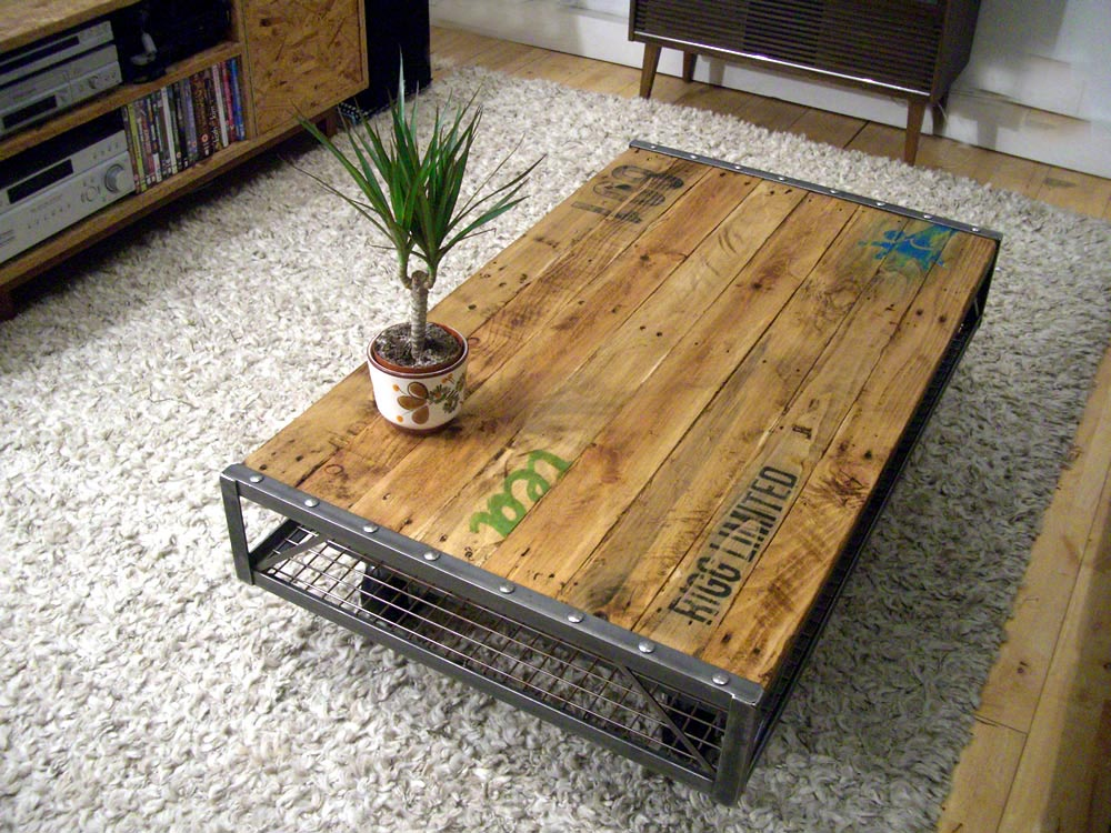 vintage industrial coffee table coffee table design ideas. Black Bedroom Furniture Sets. Home Design Ideas