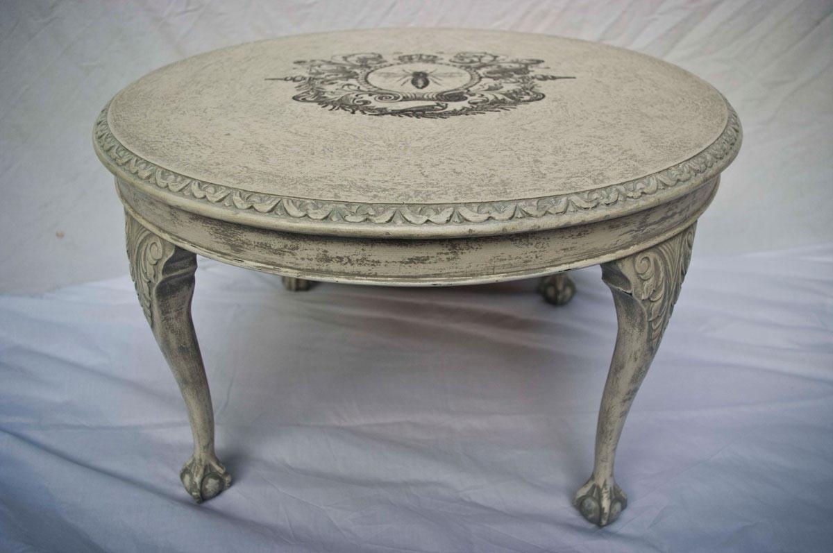 Vintage round coffee table design ideas