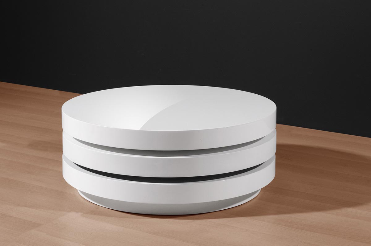 White Circular Coffee Table