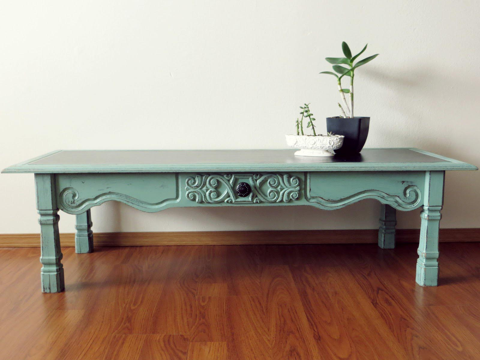Antique Blue Coffee Table