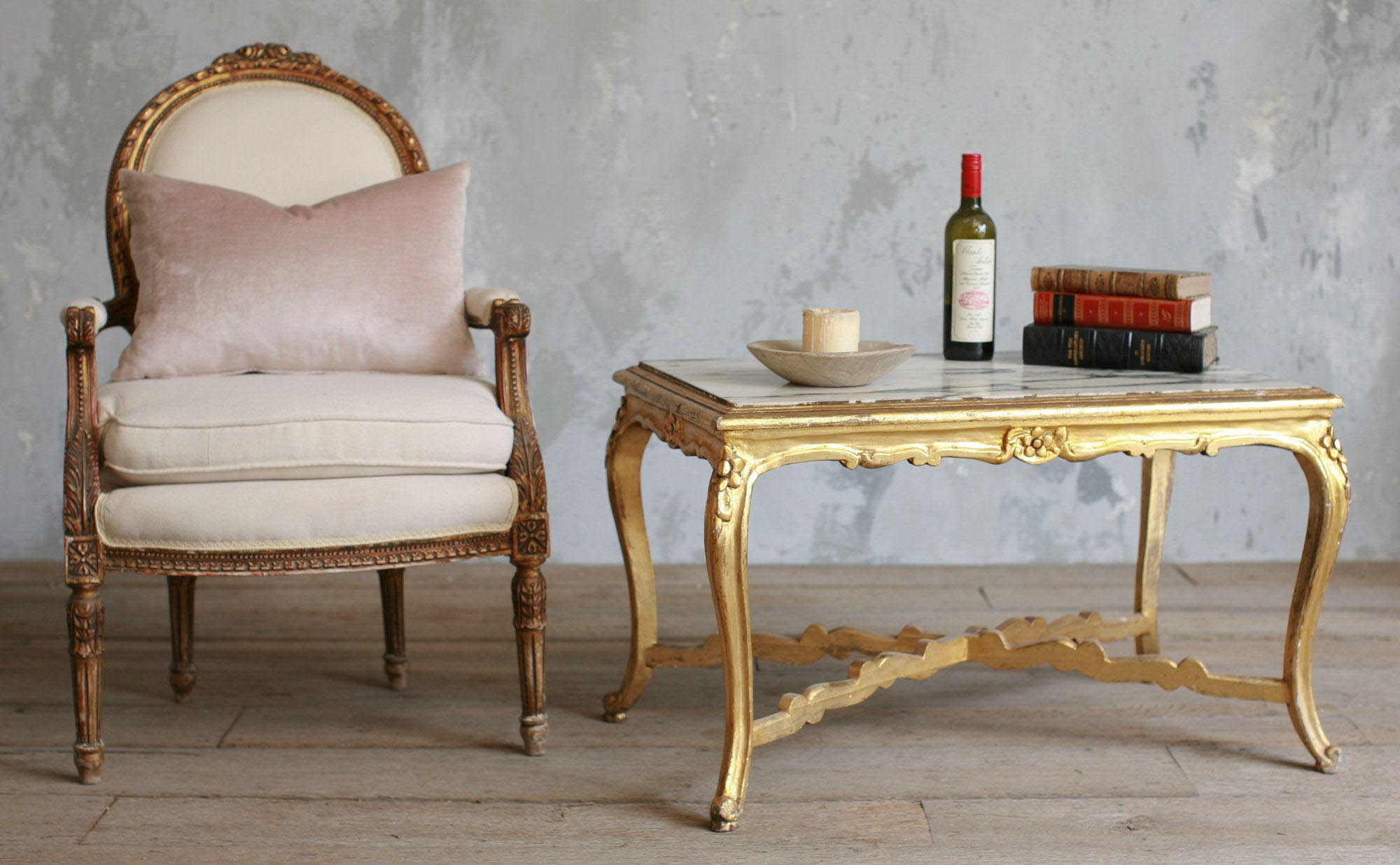... Antique Gold Coffee Table ...