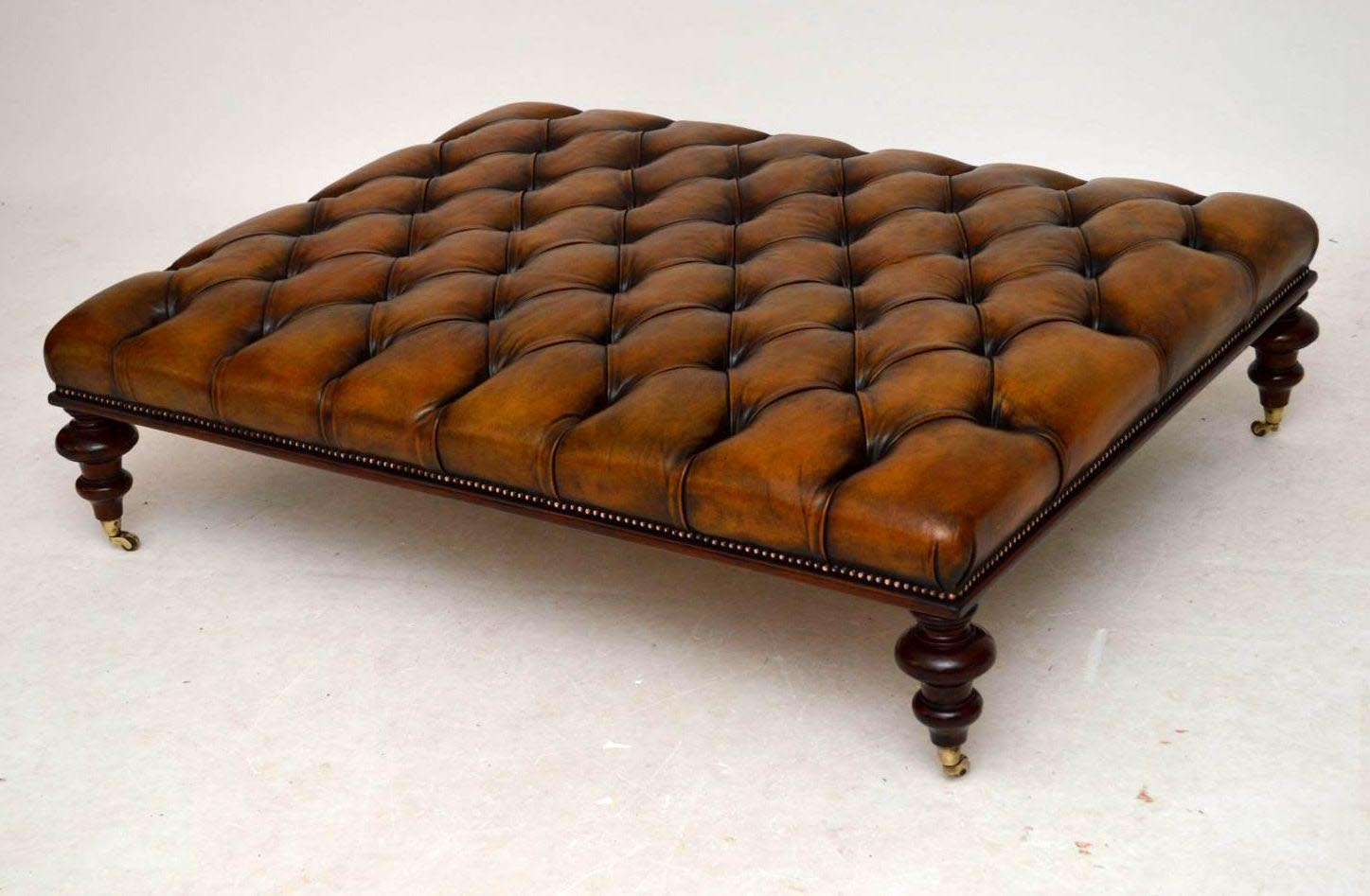 Antique Leather Top Coffee Table Coffee Table Design Ideas