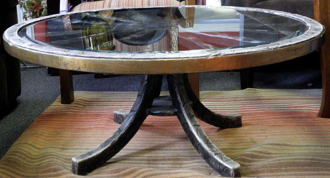 Antique Wagon Wheel Coffee Table Design Ideas
