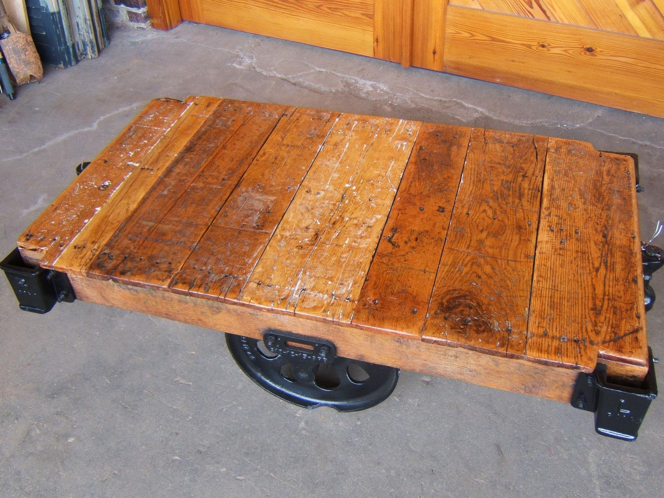 Antique Wheels for Coffee Table