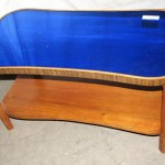 Art Deco Blue Glass Coffee Table