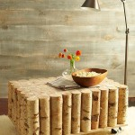 Birch Log Coffee Table